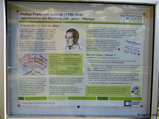 Erinnerung an Philipp Franz von Siebold