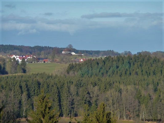Blick zur Wolfegger Loretto-Kapelle