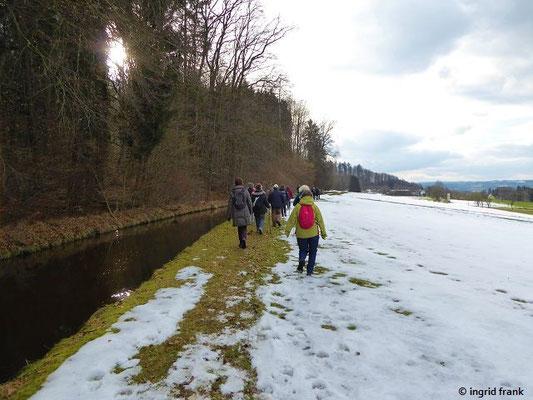 Am Kanal der Wolfegger Ach