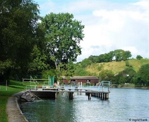 Das Rhein-Strandbad von Dießenhofen