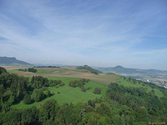 Blick von Burg Hohenkrähen nach Norden