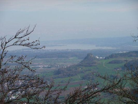 Blick zum Bodensee mit Insel Reichenau