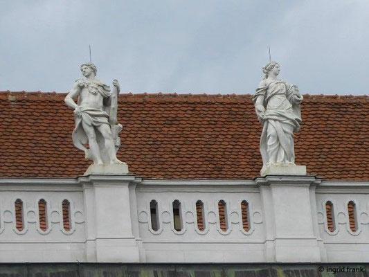 Residenz der Markgrafen zu Brandenburg-Ansbach, Hauptfassade Detail