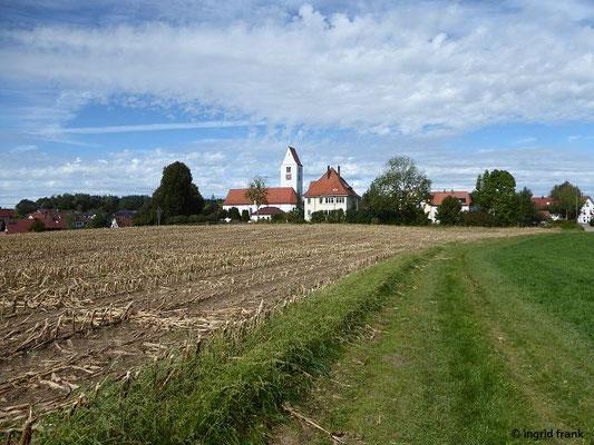 Blick zurück auf Waltershofen