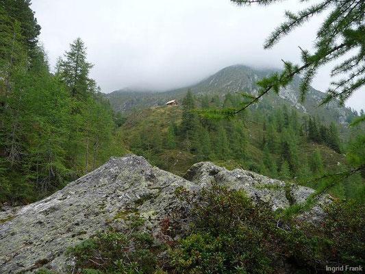 Blick zur Wallner Hütte