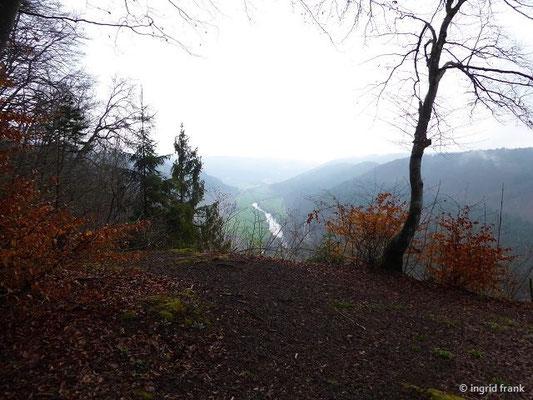 Blick vom Knopfmacherfels Richtung Osten ...