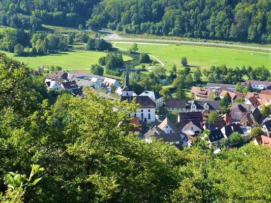 Blick auf Muggendorf mit Wiesent