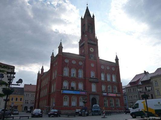 """Rathaus der """"Lessingstadt"""" Kamenz (Kreis Bautzen, Sachsen)"""