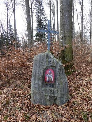 Bildstock beim Burgrest Neuwaldsee