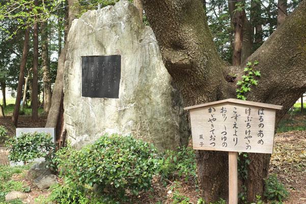 中氷川神社境内「歌碑」