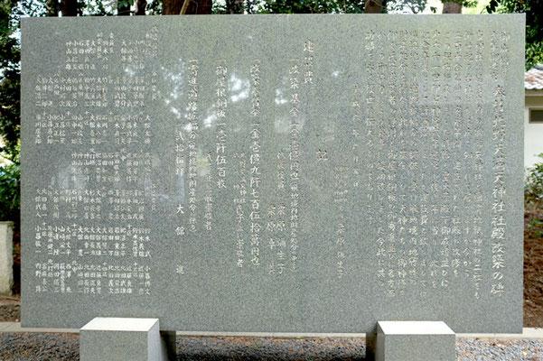 北野天満天神社「社殿改築碑」