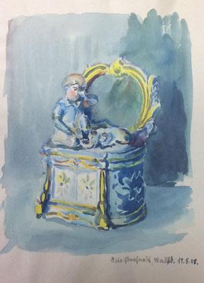 Minatur, Otto Eberhardt, 1948, Aquarell, Papier, 20x27,5cm, ID1582