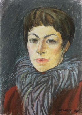 Portrait, Alexandr Zlatkin, 1998, Kreide, Papier, 27x38cm, ID1396