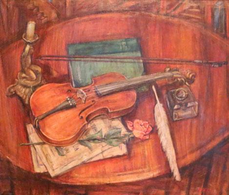Violin, Alexandr Zlatkin, , Öl, Leinwand, 70x60, ID1116