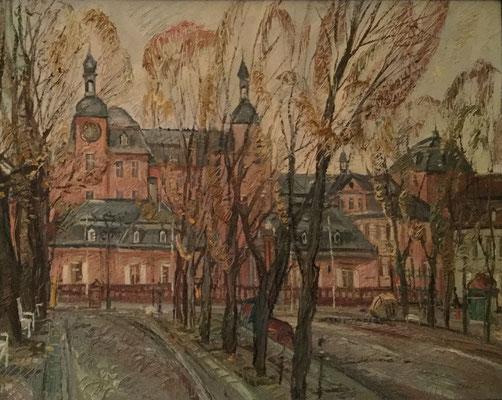 Schlossplatz und Schloss, Alexandr Zlatkin, undatiert, Öl, Leinwand, cm, ID1492