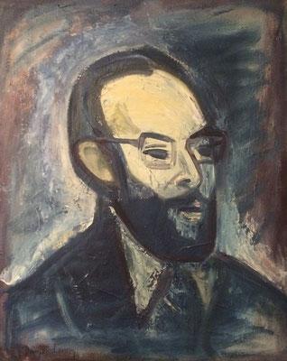 Portrait von Otto Eberhardt, Heinz Bodamer, 1974, Öl, Leinwand, 54x68cm, ID1371