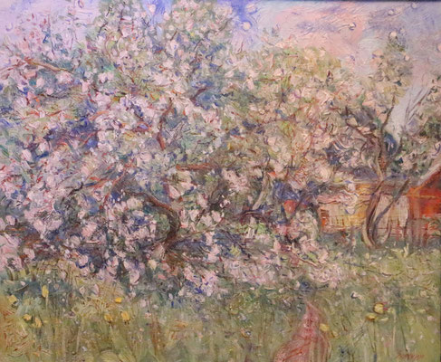 Bloom Appel Trees, Alexandr Zlatkin, , Öl, Leinwand, 60x50, ID1334