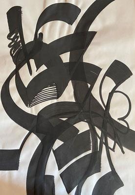 Abstrakt 4, Shihab Vaippipadath, undatiert, Aquarell, Papier, 70x100cm, ID1747