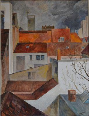 Mannheimer Dächer, Alexander Bergmann, ID1045