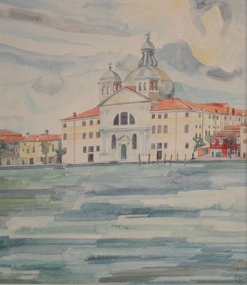 Chiesa di Santa Maria della Presentazione (Le Zitelle), Otto Eberhardt, 1995, Aquarell, Papier, fehltcm, ID1427