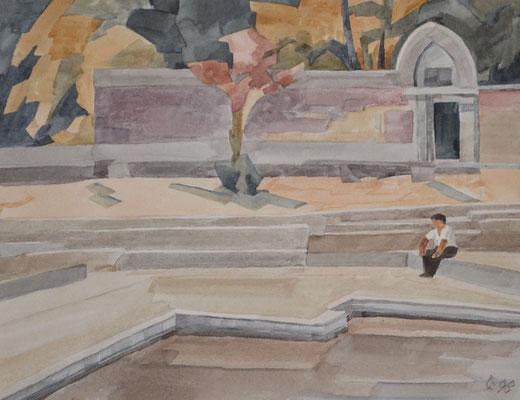 Mount Abu, Otto Eberhardt, 1998, Aquarell, Papier, 23,5x30,5cm, ID1083