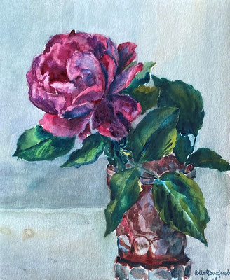 Rose, Otto Eberhardt, 1948, Aquarell, Papier, 21x29cm, ID1834