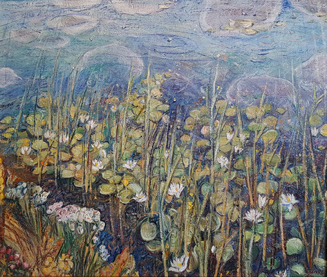 Lilies, Alexandr Zlatkin, 2014, oil, canvas, 60x70, ID1148
