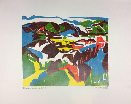 Bärenbrunner Tal, Otto Eberhardt, 1987, Holzschnitt, Papier, 47,5x39,5cm, ID1266