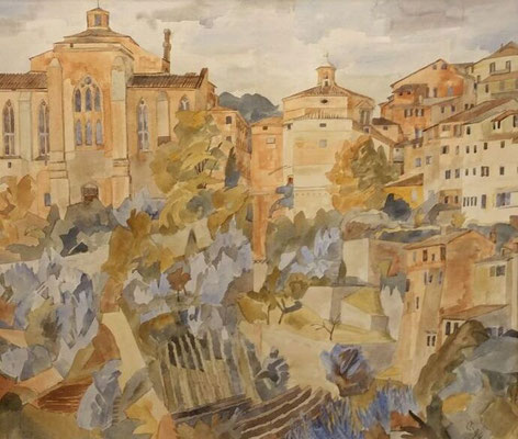 Stadt 1, Otto Eberhardt, ?, Aquarell, Papier, cm, ID1460