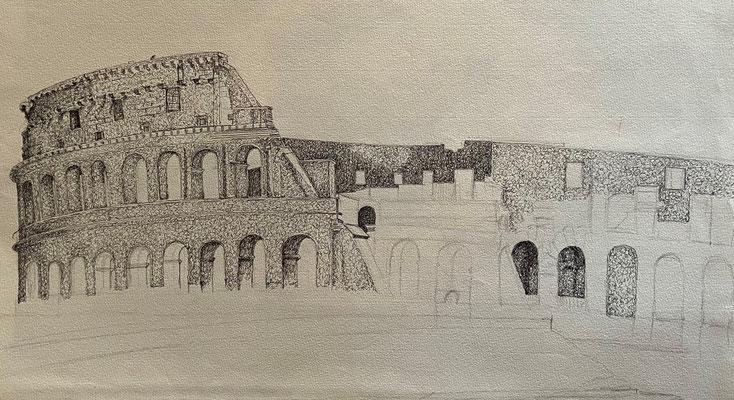 Colosseum, Shihab Vaippipadath, undatiert, Zeichnung, Papier, 49x31cm, ID1745