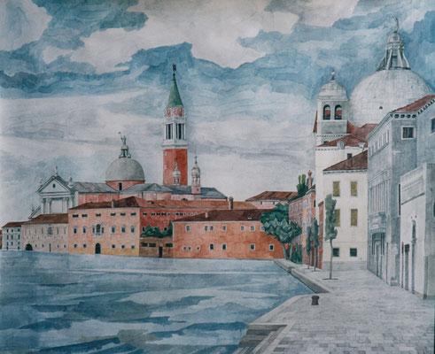 Giudecca, Otto Eberhardt, 2003, Aquarell, Papier, 75x61,5cm, ID1157