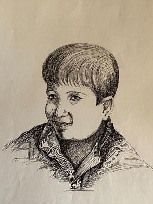 Unknown, Shihab Vaippipadath, 2000, Zeichnung, Papier, 30,5x43cm, ID1740