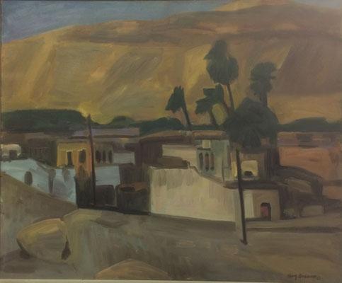 Landschaft, Heinz Bodamer, 1967, Öl, Leinwand, , ID1285