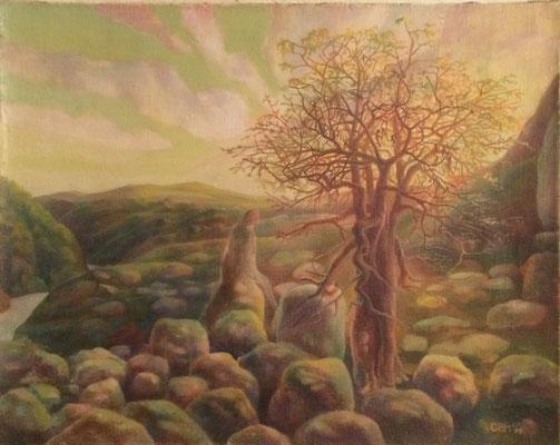 The Tree, Vladimir Skripnik, 1998, oil, canvas, 56x46, ID1143