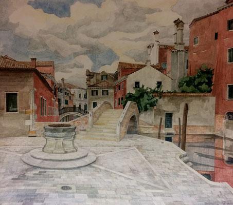 Venedig San Boldo III, Otto Eberhardt, 2003, Aquarell, Papier, 75,2x67,5cm, ID1401