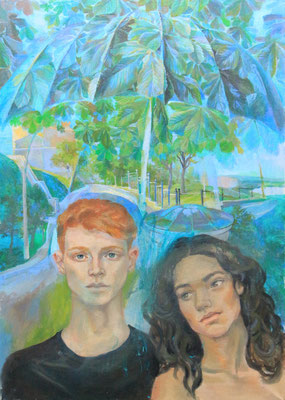 Tolerance. The canopy of the world, Vladimir Skripnik, 2017, oil, canvas, 70x50
