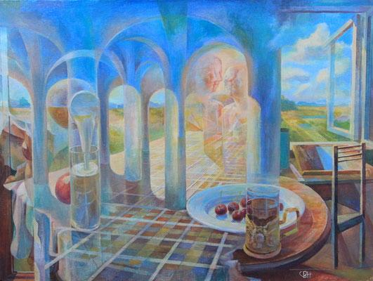 The portal of Currently, Vladimir Skripnik, 2013, tempera oil, canvas, 60x80