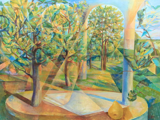 Spotlights of time, Vladimir Skripnik, 2014, tempera oil, canvas, 60x80