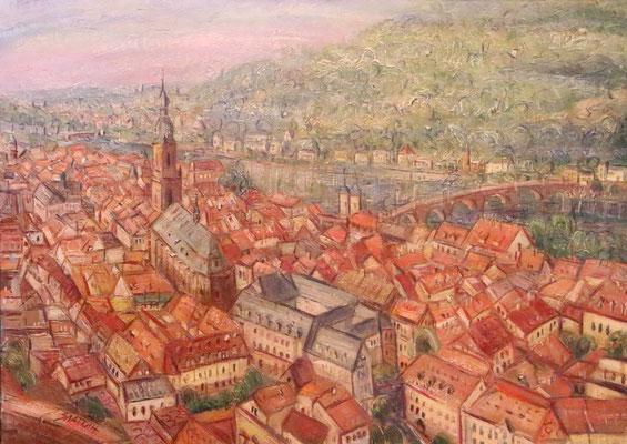 Heidelberg, Alexandr Zlatkin, , Öl, Leinwand, 70x50, ID1122