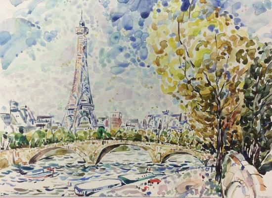 Paris, Alexandr Zlatkin, undatiert, Aquarell, Papier, 38x27,5cm, ID1397