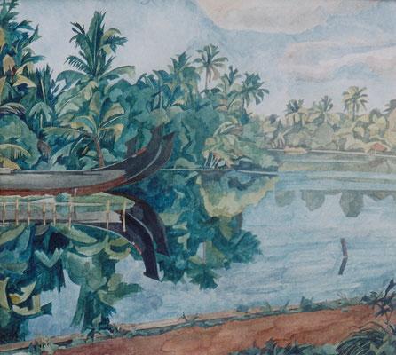 Kallasseril, Backwaters III, Otto Eberhardt, 2002, Aquarell, Papier, 56x64cm, ID1079