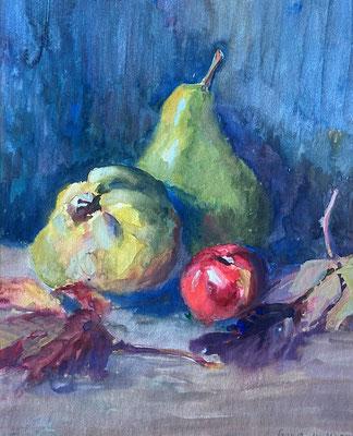 Quitte und Birne, Otto Eberhardt, 1948, Aquarell, Papier, 29x31cm, ID1816
