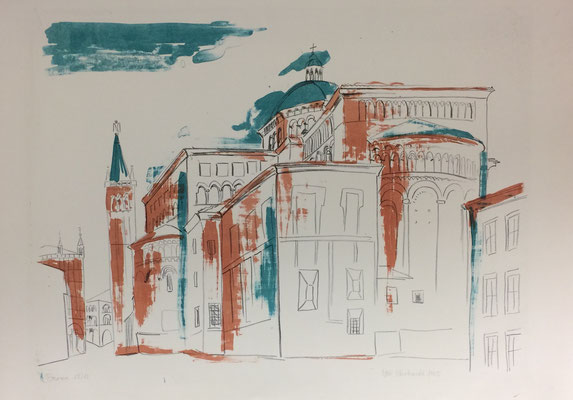 Parma, Otto Eberhardt, 1955, Lithografie, Papier, 62x43,5, ID1241