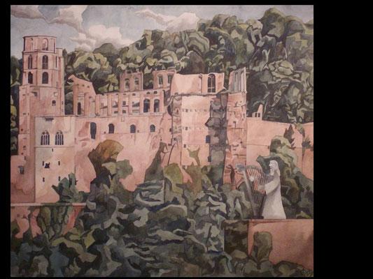 Das alte Schloss, Otto Eberhardt, , Aquarell, Papier, , ID1339