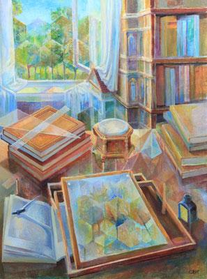 The transformation of reality, Vladimir Skripnik, 2017, oil, canvas, 80x60