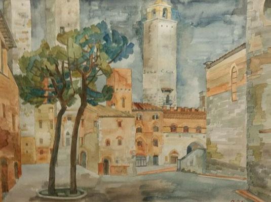 San Gimignano VII, Otto Eberhardt, ?, Aquarell, Papier, cm, ID1459