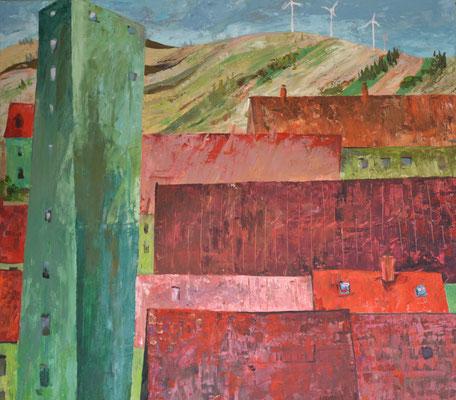 Grüne Häuser, Alexander Bergmann, ID1044