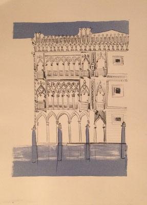 Ca d'Oro, L, b, Otto Eberhardt, 1956, Lithografie, Papier, 21x28cm, ID1245