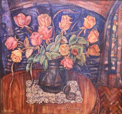 Night bouquet, Alexandr Zlatkin, , Öl, Leinwand, 60x65, ID1335