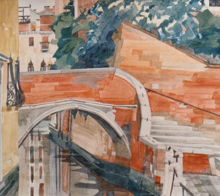 Campiello Barbaro V, Otto Eberhardt, 1997, Aquarell, Papier, 44x38,5cm, ID1155